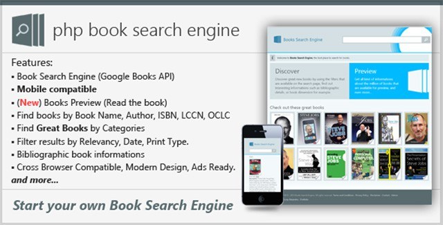 PHP Book Search Engine