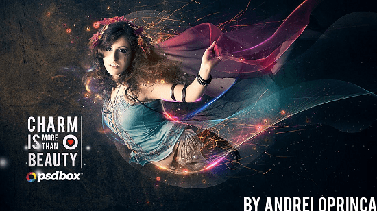beautiful-lady-with-flowing-light-effects