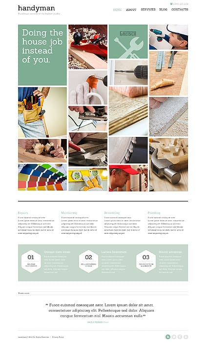 Handyman for Success Joomla Template