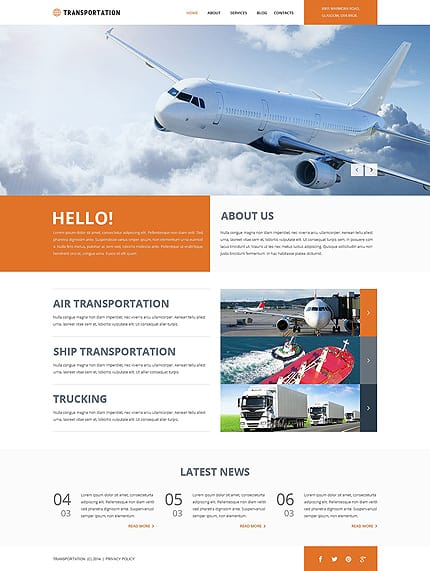 Freight Shipping Group Joomla Template