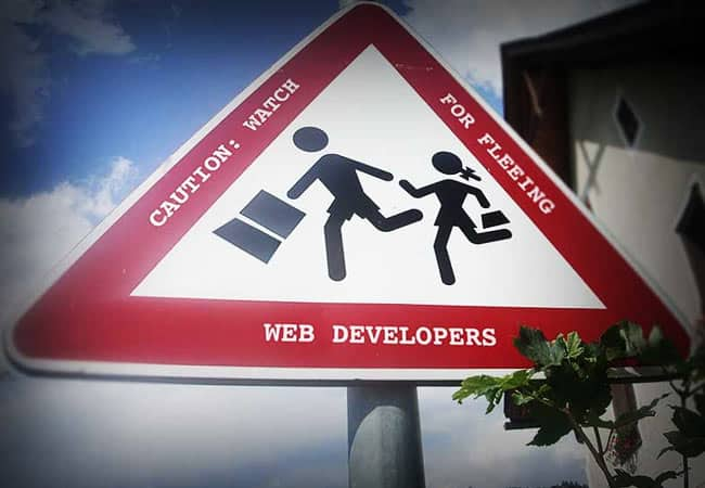 Watch for signs of fleeing web developers