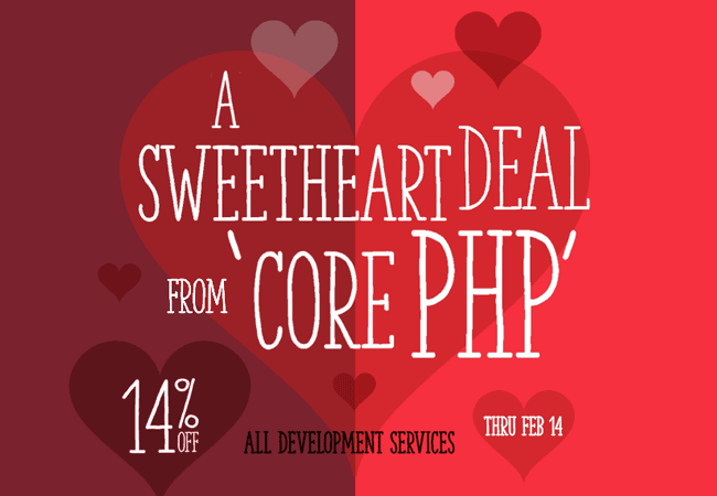 Get a sweetheart deal from 'corePHP'