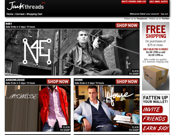 jack threads website