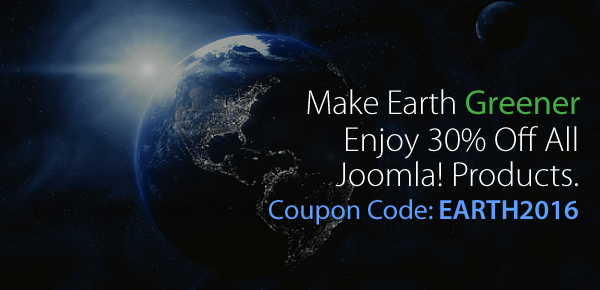 earth day web promotion