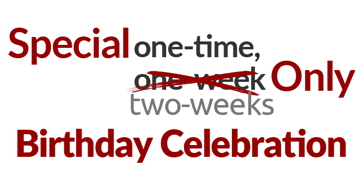 corephp one time special birthday celebration