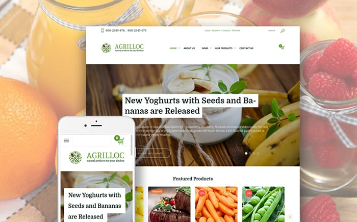 Agrilloc - Agricultural Supply & Farm Foods WooCommerce Theme