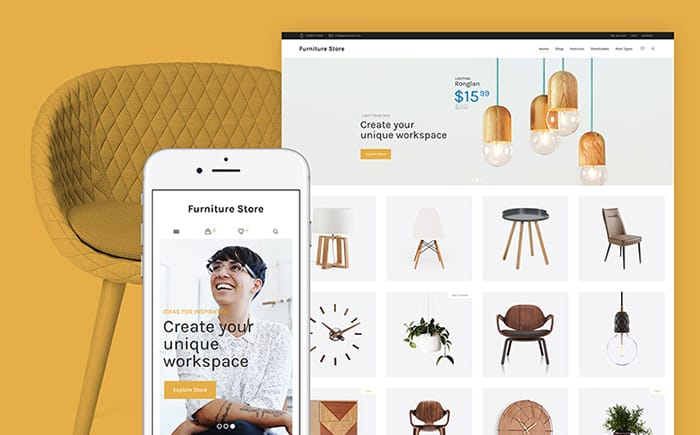 Furniture Store + Woocommerce WooCommerce Theme