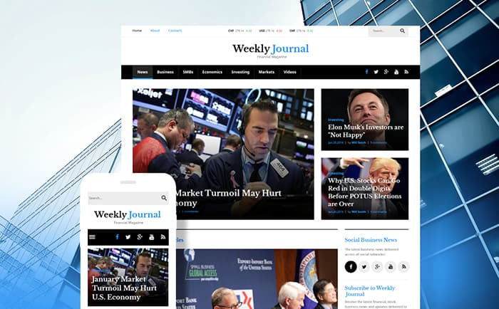 Financial News & Magazine WordPress Theme