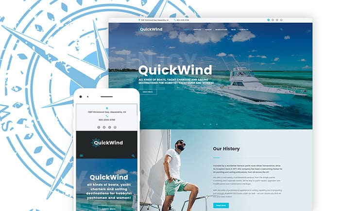 Yachting & Voyage Charter WordPress Theme