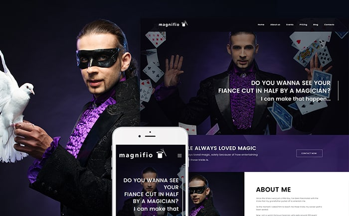 Magnifio - the Best WordPress Theme for Magicians