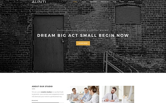 Simple & Elegant Art Portfolio WordPress Theme