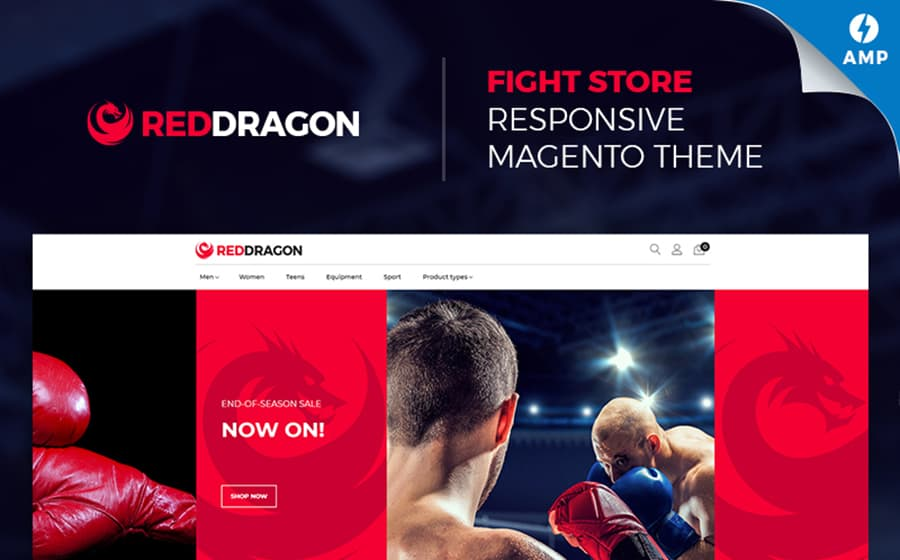RedDragon - Martial Arts Shop Magento Theme