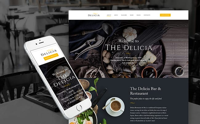 Cafeteria WP Theme