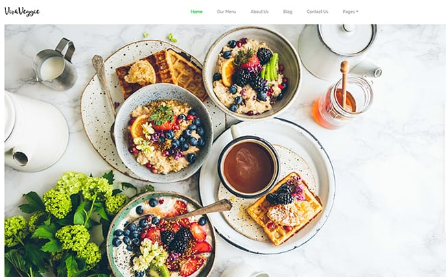 Viva Veggie - Cafe & Restaurant WordPress Theme