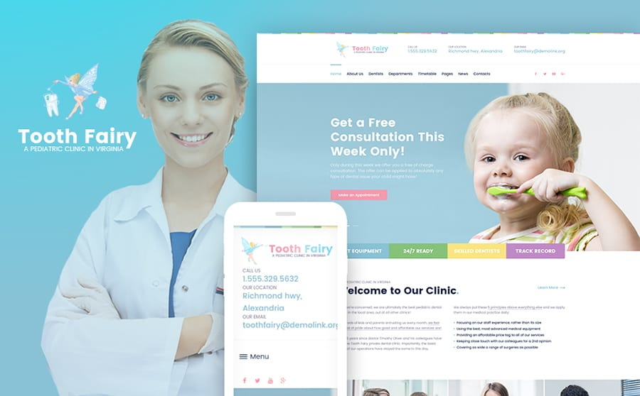 Pediatric Clinic WP Theme