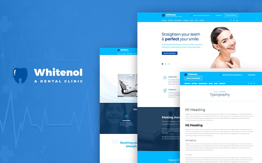 Dental Treatment WordPress Theme