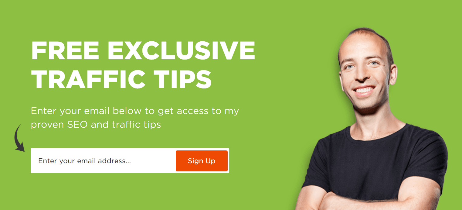 free exclusive tips image with a guy on the right side