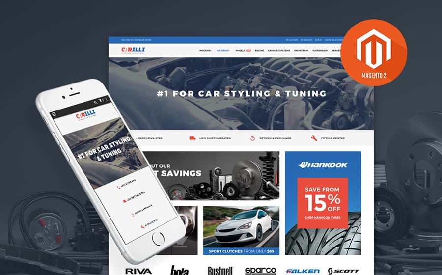 Car Tuning Magento Theme