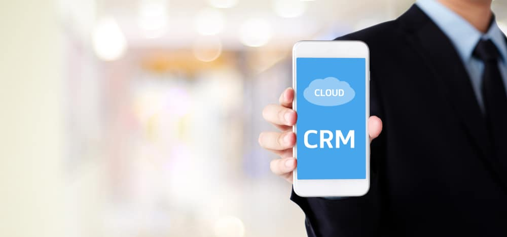 Cloud CRM on mobile device