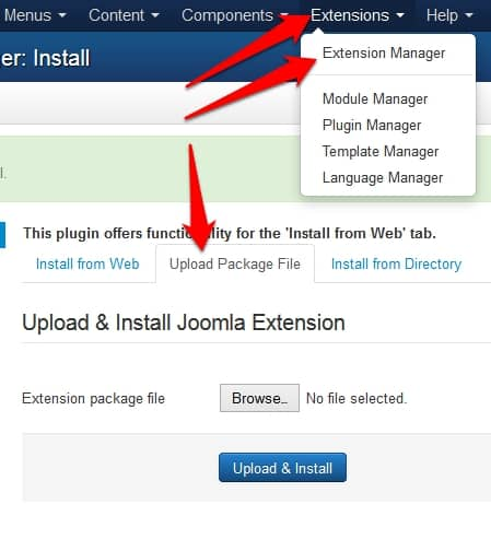 upload jomCDN to your site